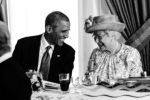 Alžběta II. a Barack Obama